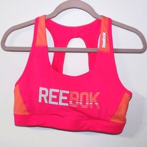 Reebok Hot Pink/Orange Sports Bra L